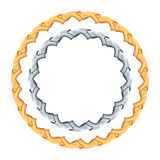 Figured gold and silver chain - round frame. Figured gold and silver chain - round frame vector Royalty Free Stock Photos