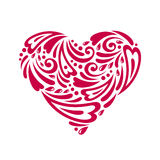 Figured heart. Vector illustration. Doodles and curls. Happy Valentine's day Stock Images