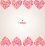Figured hearts. Stock Photography