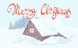 Figured inscription Merry Christmas Royalty Free Stock Image