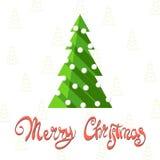 Figured inscription Merry Christmas Royalty Free Stock Photos