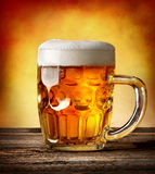 Figured mug of beer Royalty Free Stock Photos