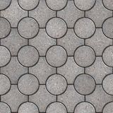 Figured Pavement. Seamless Tileable Texture. Gray Round and Truncated Square Paving Slabs. Seamless Tileable Texture Stock Photos