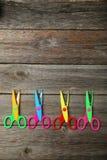 Figured scissors Stock Images