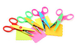 Figured scissors Royalty Free Stock Images