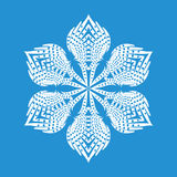 Figured snowflake icon, simple style. Figured snowflake icon. Simple illustration of figured snowflake vector icon for web Stock Images