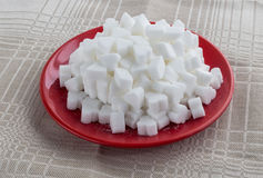 Figured white refined sugar Royalty Free Stock Photography