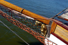 Figurehead. The bowsprit and the golden figurehead Royalty Free Stock Photos