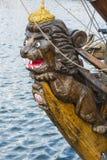 Figurehead lion frigate Shtandart royalty free stock photography