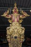 Bangkok, Thailand - August 12, 2017: Royal Barge Narai Song Suban in National Museum, Bangkok, Thaila Royalty Free Stock Photography