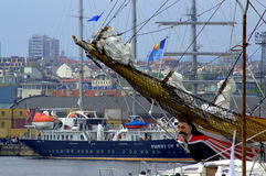 Figurehead sailing ship at port Stock Photography