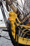 Figurehead on tall ship French Frigate Stock Photo
