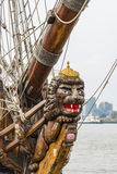 Figurehead on Tall Ship Shtandart Stock Images