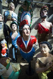 Figureheads from the era of sailing ships Royalty Free Stock Photography