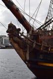 Figureheand del león de la nave Foto de archivo libre de regalías