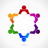 Figuren. Abstract form as symbol for teamwork and diversity Royalty Free Stock Photo