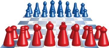 figuren schach 库存例证