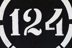 Figurera 1 målarfärg för grunge 2 4 på metall Royaltyfri Foto