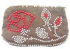 figurerad gammal handväska royaltyfri foto