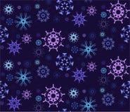 Figurerad snöflingamodell Arkivfoto