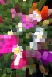 Figurerade remsor av olika färger Arkivbild