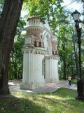 Figurerade vinrankaportar i Tsaritsyno parkerar Arkivfoto