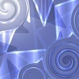 Figurerat exponeringsglas i blåa signaler royaltyfri illustrationer