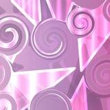 Figurerat exponeringsglas i purpurfärgade signaler royaltyfri illustrationer