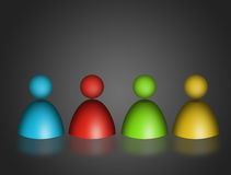 Figures. Four figures  with many  different color over gray background Stock Image