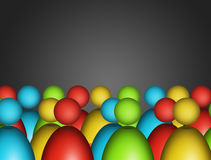 Figures. Many figures  with  different colors over gray background Royalty Free Stock Photo