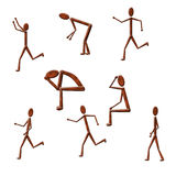 Figures. In various positions of activity Stock Photo