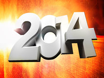 Figures 2014. On an abstract background (close up Royalty Free Stock Photo