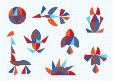 Figures of animals and birds Tangram Stock Image