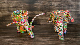 Figures of animals from the wrappers Royalty Free Stock Photos