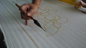 Figures on the batik.
