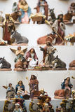 Figures of belen. Figures used in Christmas to decorate the crib stock photo