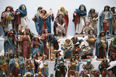 Figures of belen. Figures used in Christmas to decorate the crib stock image