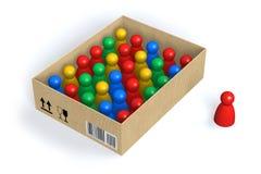 Figures in box Stock Photos