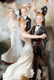 Figures of the bride and groom Royalty Free Stock Images