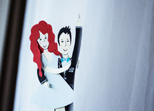 Figures of bride and groom Stock Photography