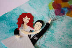 Figures of bride and groom Royalty Free Stock Image