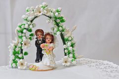 Figures of the bride and groom Royalty Free Stock Photography