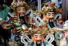 Figures of Buddha in China stock image