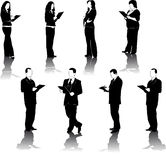 Figures of a business men and women Royalty Free Stock Photos