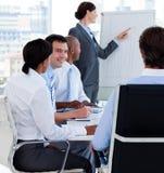figures chefen som rapporterar försäljningar Arkivbild