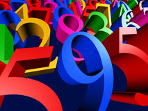 Figures closeup. 3D Illustration - Background of colorful figures closeup Stock Photo