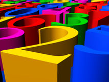 Figures closeup. 3D Illustration - Background of colorful figures closeup Royalty Free Stock Images