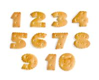 Figures from cookies. On a white background stock photos