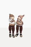 Figures couples d'illustration, illustration Valentine, ensemble, hiver, chute dans l'amour, date, concept, événement, romance, r Photographie stock