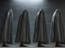 Figures. Covered in gray cloth Royalty Free Stock Photos